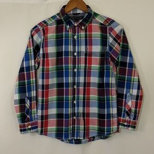 Tommy Hilfiger  Plaid Boys Shirt Medium (12/14)